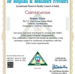 NABH Accreditation Certificate of Clinic